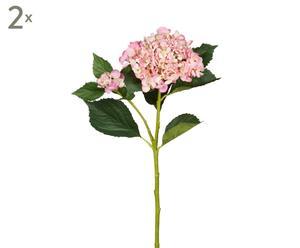 Set van 2 kunstbloemen Hortensia, roze, H 90 cm