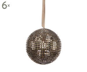 Set van 6 kerstballen Leduc, champagne, diameter 12 cm