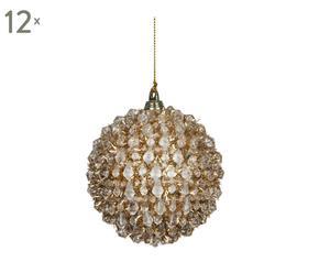 Set van 12 kerstballen Leamington, goud, diameter 8 cm
