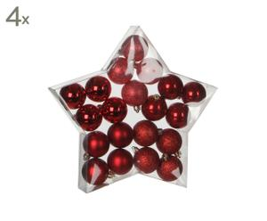 Set van 80 kerstballen Caledon, rood, H 5 cm