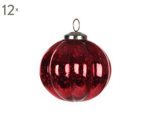 Set van 12 kerstballen Outlook, rood, diameter 10 cm