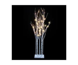 LED-verlichte takken Dundalk, wit, H 120 cm