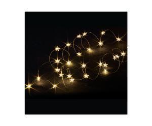 Lichtsnoer met sterren Plessisville, warm wit, L 140 cm