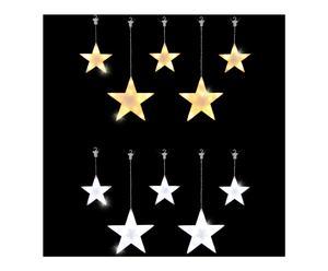 LED-verlicht gordijn met sterren Weedon, multicolour, L 160 cm
