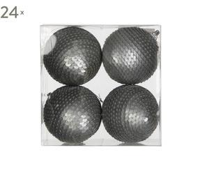 Set van 96 kerstballen Halifax, zilver, H 6 cm