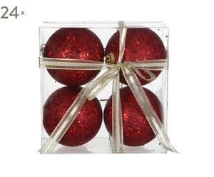 Set van 96 kerstballen Hamilton, rood, H 7 cm