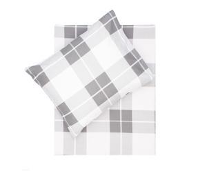 Dekbedovertrek-set Ale x I, grijs/wit, 140 x 200/220 cm