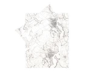 Dekbedovertrek-set Mokum II, wit/grijs, 200 x 200/220 cm