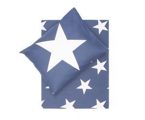 Dekbedovertrek-set Stars I, navy/wit, 140 x 200/220 cm