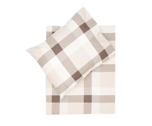 Dekbedovertrek-set Evi I , bruin/wit/beige, 140 x 200/220 cm