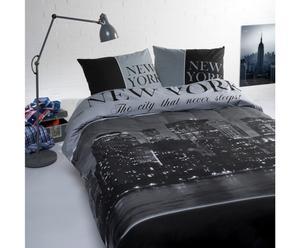 2-persoons dekbedovertrekset Manhattan, zwart, 200 x 200/220 cm