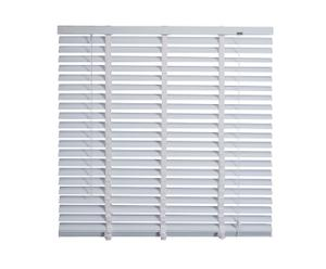 Jaloezieen aluminium 50 mm + Ladderband IV, wit, B 120 cm