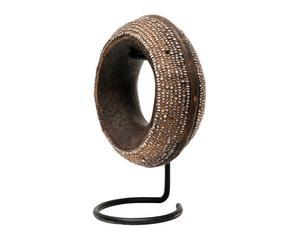Luxe decoratieve armband met houder Big Detail, wit, diameter 14 cm