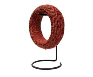 Luxe decoratieve armband met houder Coral Sea, rood, diameter 18 cm