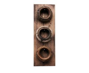 Set van 3 armbanden op houder Special 3, zwart/wit, H 56 cm