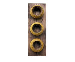 Set van 3 armbanden op houder Special 3, geel/zwart, H 56 cm