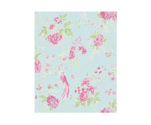 Rol Behang Exotica, blauw/roze