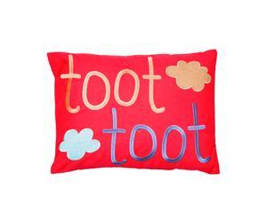Kussen Toot Toot, rood, 30 x 40  cm