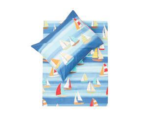 1-persoons dekbedovertrekset Sail Away, blauw, 120 x 150/170 cm
