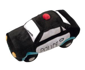 Knuffel Police Car, zwart, L 40 cm