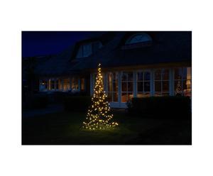 Fairybell kerstboom, zwart/warm wit, H 220 cm