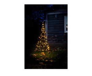Fairybell kerstboom, zwart/warm wit, H 145 cm