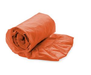 Hoeslaken HNL Satijn, oranje, 90 x 200 cm