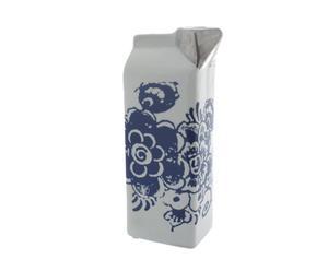 Porseleinen vaas Melk, blauw/wit, H 25 cm