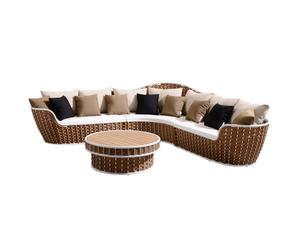 Lounge-set Shenzhoux II, bruin/wit/beige