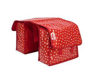 Fietstas Polkadot, rood/wit, 35 x 35 cm