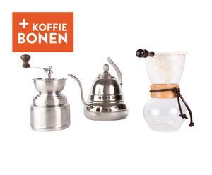 Koffiepakket Woodneck, transparant/zilver, 5-delig