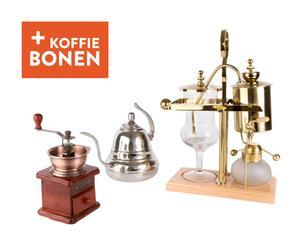 Koffiepakket Balancing Siphon, goud/koper/zilver, 4-delig
