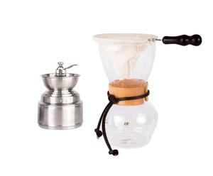 Koffiepakket Woodneck Starter, transparant/zilver, 3-delig
