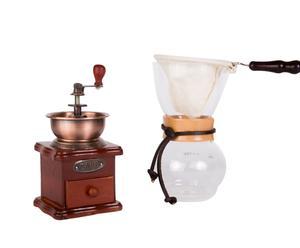Koffiepakket Woodneck Starter, transparant/koper, 3-delig