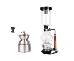 Koffiepakket Siphon Starter, transparant/zilver, 2-delig