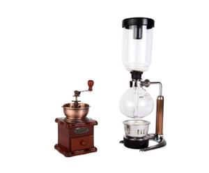 Koffiepakket Siphon Starter, transparant/koper, 2-delig