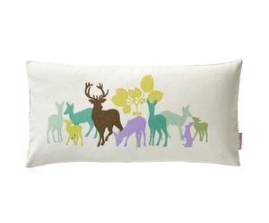 Kussen Deer in the woods, multicolor, 30 x 60 cm