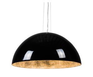 Hanglamp Magna Glossy, zwart/grijs, diameter 55 cm