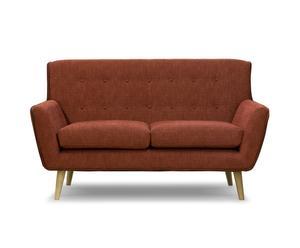 2-zitsbank Jens, rood/naturel, L 156 cm