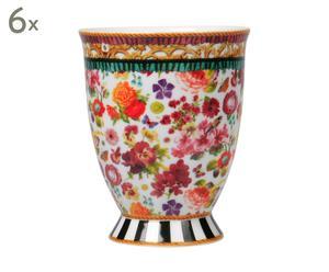Set van 6 mokken Isabelle, multicolour, diameter 8,3 cm