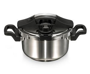 Snelkookpan Vitalplus, zilver/zwart, 4 liter