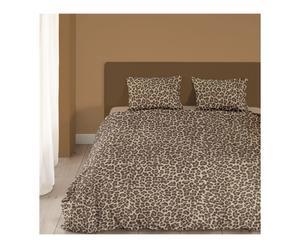1-persoons dekbedovertrekset Leopard, taupe, 140 x 200/220 cm