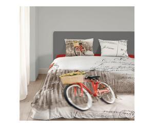 1-persoons dekbedovertrekset Bycicle, beige, 140 x 200/220 cm