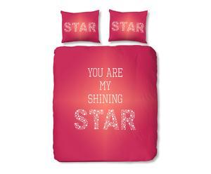 Lits-Jumeaux Star, fuchsia, 240 x 200/220 cm