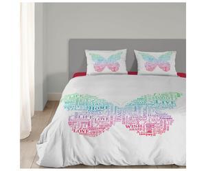 Lits-Jumeaux Butterfly, multicolour, 240 x 200/220 cm