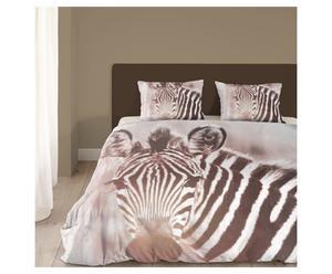 2-persoons dekbedovertrekset Zebra, multicolour, 200 x 200/220 cm