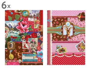 Set van 12 ansichtskaarten PIP V, multicolor, 13 x 18 cm