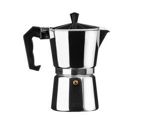 Espresso maker Silver 6-cups, zilver, H 20 cm
