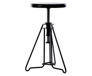 Verstelbare kruk Piano Chair, zwart, H 45-67 cm