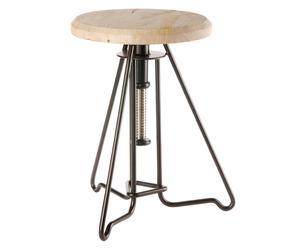 Verstelbare kruk Piano Chair, bruin, H 45-67 cm